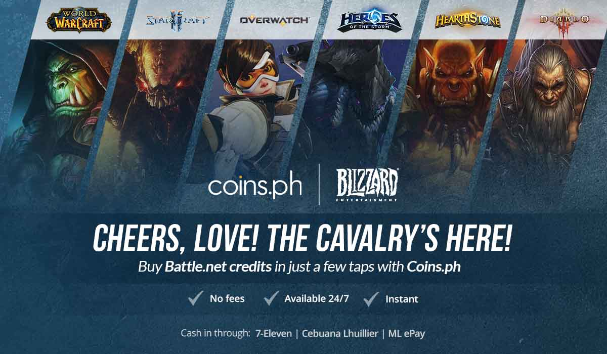 Buy Battle.net credits in just a few taps with Coins.ph