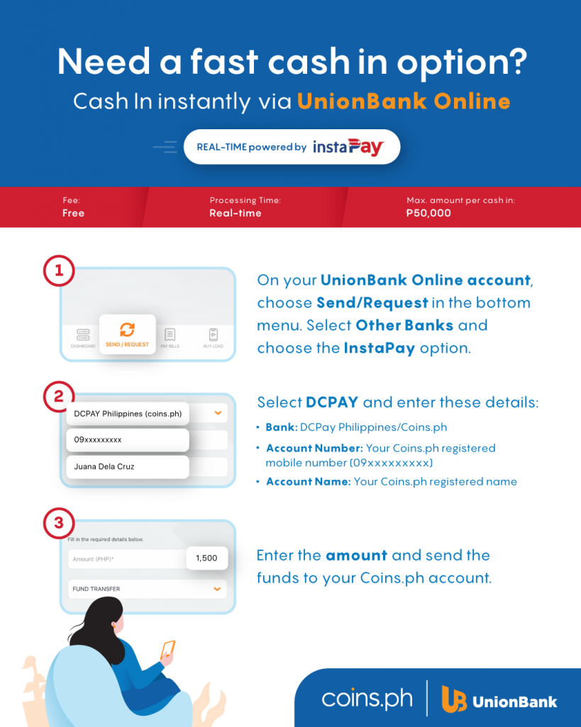 how to cash in coins wallet unionbank online instapay